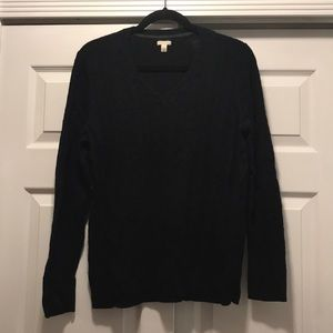 Sonoma Black Cable Knit Sweater, XL